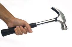 ręka trzymająca hammer Obraz Royalty Free