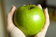 ręka trzymająca jabłko Obrazy Stock