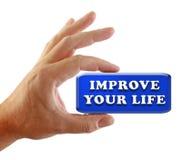 ręka ulepsza twój życie strategię Obrazy Royalty Free
