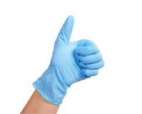 Ręka w gumowej rękawiczce Obraz Royalty Free