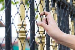 Ręka w więzieniu Zdjęcia Stock