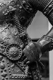 Ręka w zbroi średniowieczna rycerz statua Zdjęcie Royalty Free