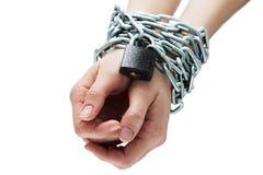 Ręka wiążący łańcuch Zdjęcie Stock