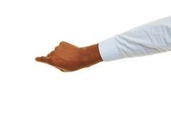 Ręka wskazuje palec afrykański mężczyzna zdjęcia stock