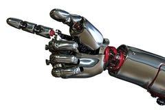 ręka wskazuje robot royalty ilustracja