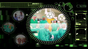 Ręka wybiera klamerki różnorodni zaopatrzenia medyczne na interaktywnym menu zbiory wideo