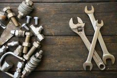 Ręka wytłacza wzory set lub praca wytłacza wzory ustalonego tło, narzędzia w przemysł pracie dla ogólnej pracy lub ciężką pracę,  Obraz Royalty Free