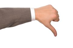 ręka zły znak Obraz Stock
