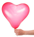 Ręka z balonem obraz royalty free