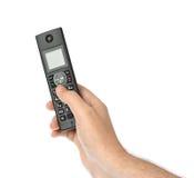 Ręka z bezprzewodowym radiowym telefonem Obraz Royalty Free