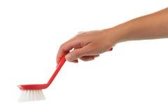 Ręka z cleaning muśnięciem Obraz Stock