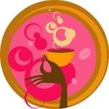 Ręka z filiżanka kawy Obrazy Royalty Free
