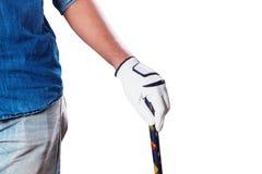 Ręka z golfem na białym tle zdjęcia stock
