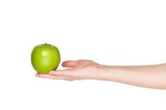 Ręka z jabłkiem Obraz Stock