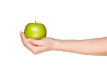 Ręka z jabłkiem Obrazy Royalty Free