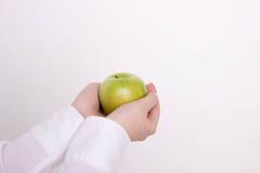 Ręka z jabłkiem Fotografia Stock