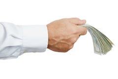 Ręka z pieniądze obrazy stock