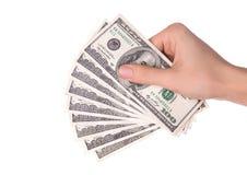 Ręka z pieniądze Zdjęcia Stock