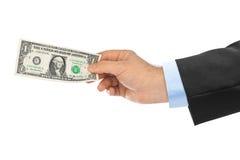 Ręka z pieniądze Obraz Stock