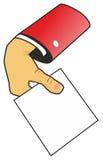 Ręka z prześcieradłem papier Zdjęcia Royalty Free