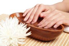 Ręka Zdrój. Manicure'u pojęcie zdjęcie royalty free
