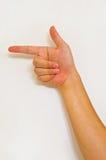 Ręka znak fotografia royalty free