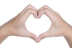 Ręka znaka postury miłości ikona odizolowywająca Zdjęcia Stock