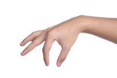 Ręka znaka postury wyboru chwyt odizolowywający Zdjęcie Stock