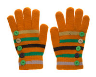 rękawice szydełkować Rękawiczki odizolowywać na białym tle rękawiczki t Obrazy Stock