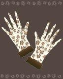 rękawiczek lamparta druk ilustracja wektor
