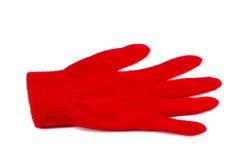 rękawiczka odizolowywał jeden czerwień Zdjęcia Stock