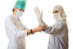 rękawiczka stawiająca Fotografia Stock