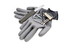 Rękawiczki i narzędzia Fotografia Royalty Free