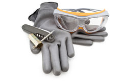 Rękawiczki i narzędzia Zdjęcie Stock