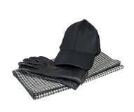 Rękawiczki, nakrętka i szalik, Fotografia Stock