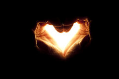 ręki światła miłość Zdjęcie Stock