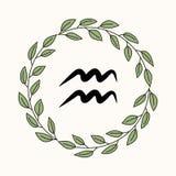 Ręki aquarius rysunkowy płaski symbol Fotografia Royalty Free