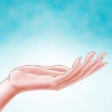 ręki błękitny otwarte niebo Zdjęcia Stock