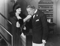 ręki całowania mężczyzna womans Obraz Royalty Free