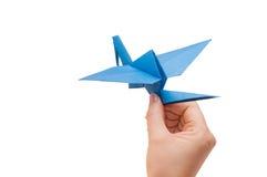 ręki dźwigowy origami zdjęcie stock