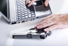 Komputerowa przestępca w akci Fotografia Royalty Free