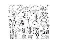 Ręki doodle biznesu doodles Zdjęcia Royalty Free