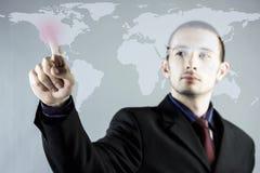 Ręki dosunięcie na dotyka ekranu interfejsie Obrazy Stock