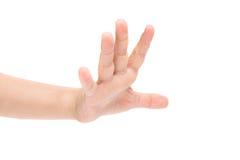 Ręki dziecko odizolowywający Zdjęcie Royalty Free