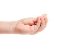 Ręki dziecko odizolowywający zdjęcia royalty free