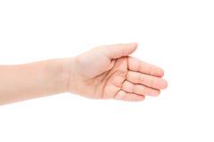 Ręki dziecko odizolowywający zdjęcie stock