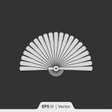 Ręki fan ikona dla sieci i wiszącej ozdoby Zdjęcia Stock