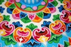 Ręki farby drewniany koło Zdjęcia Royalty Free