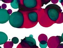 Ręki farby tekstura Abstrakt okrąża kształta tło Alkoholu abstrakcjonistyczny obraz Nowożytna dzisiejsza ustawa royalty ilustracja