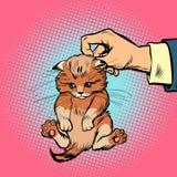 Ręki figlarki chwyty scruff ilustracji